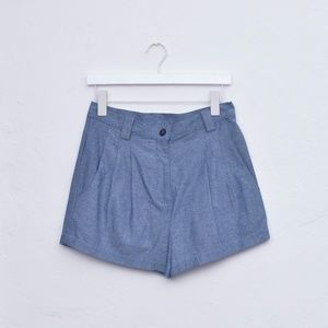 American Apparel High Waist Chambray Shorts NWOT